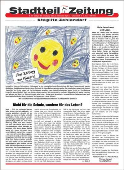 Stadtteilzeitung Steglitz-Zehlendorf Juli-August 2015