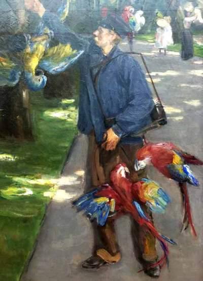 Max Liebermann - Der Papageienmann, 1902